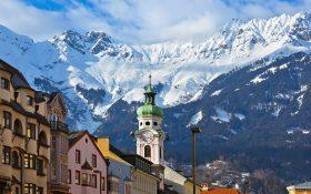 Innsbruck, the capital of the Austrian Tyrol.