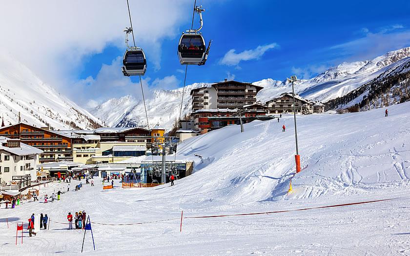 Skiing at Obergurgl in Austria