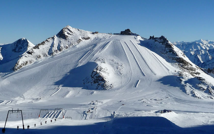 Hintertux glacier in Austria