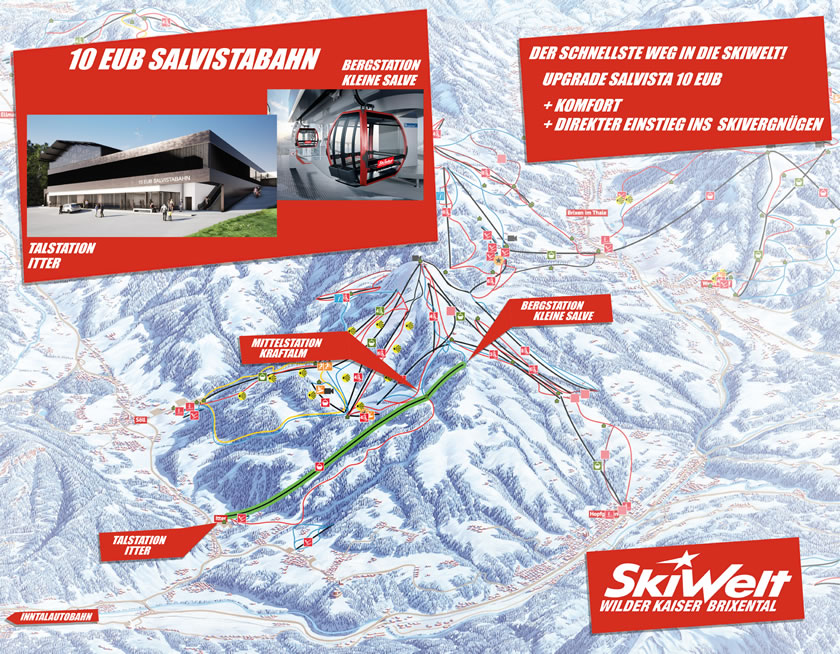 The planned new Salvista gondola in Itter