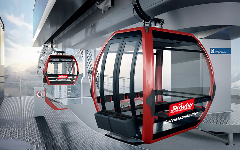 The new gondola project at the Salvista lift in Itter