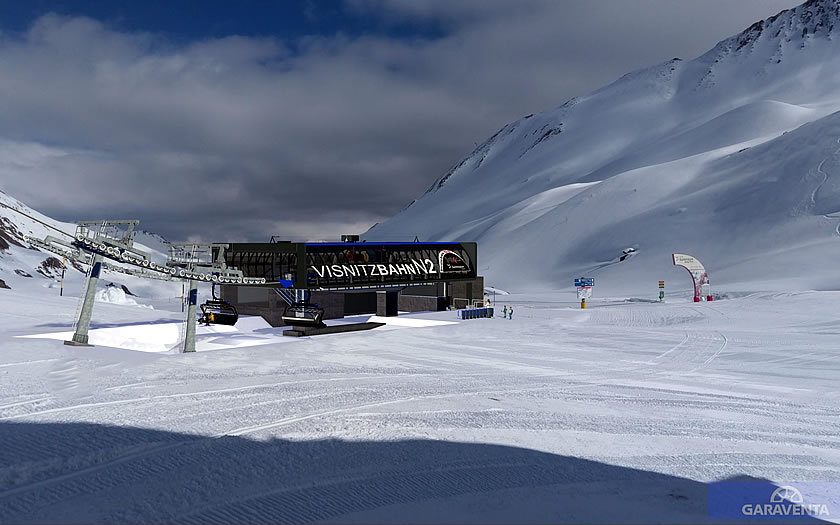 The new Visnitz chairlift above Samnaun