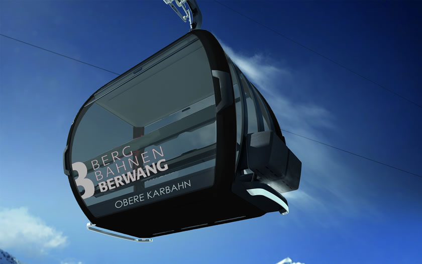 The new Obere Karbahn lift in Berwang