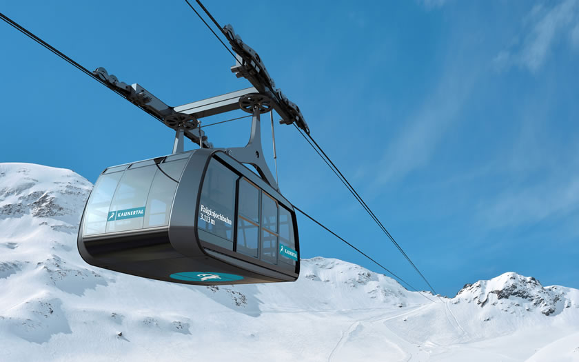 Artist's impression of the new Kaunertal gondola