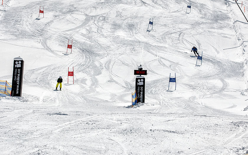 Parallel slalom challenge in Serfaus-Fiss-Ladis