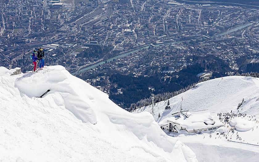 The Nordkette ski area above Innsbruck
