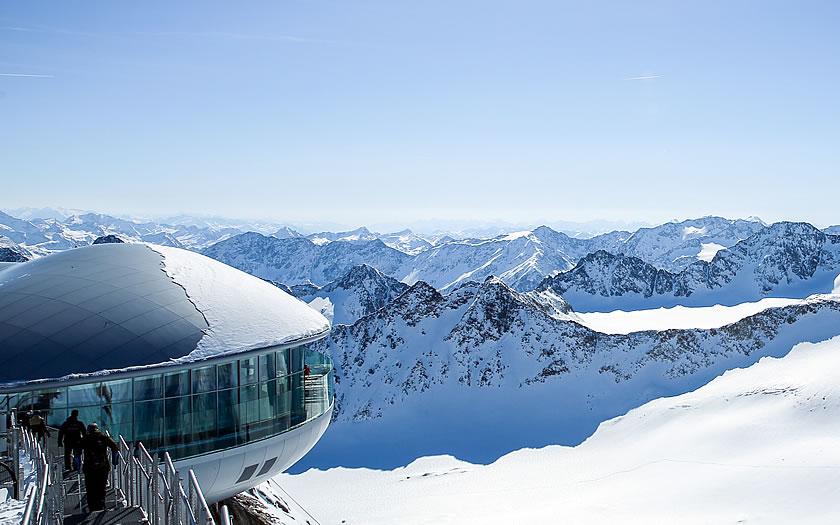 Cafe 3440 on the Kaunertal glacier
