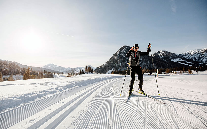 Crosscountry skiing in the Kitzbühel Alps region