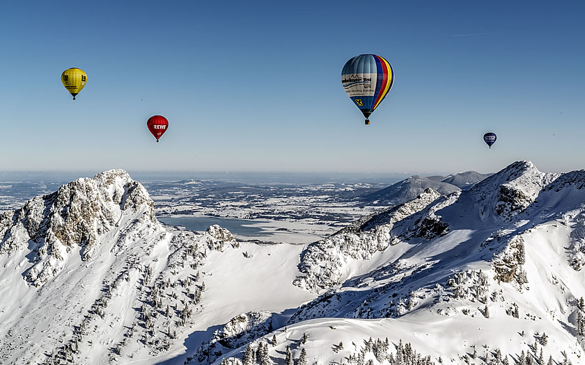 Ballooning in the Tannheimer Tal