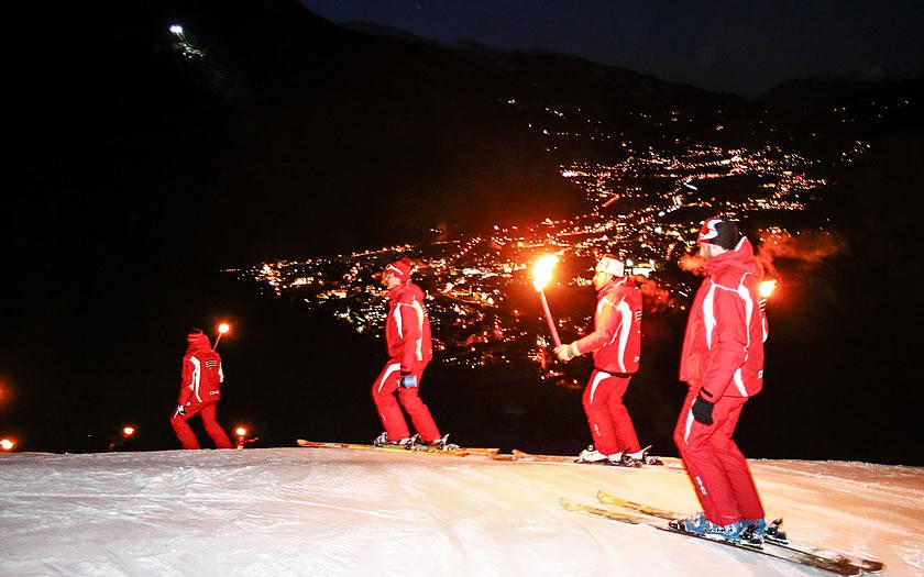 Torchlit Descent in Mayrhofen