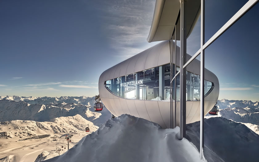 Austria's highest gondola on the Pitztal glacier
