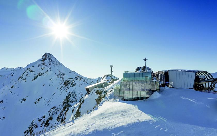 Sölden glacier ski area in Austria