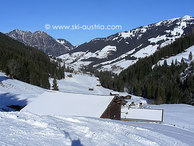 Skiing in Alpbach Austria