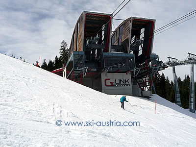 G/Link gondola between the two sides of Wagrain ski area