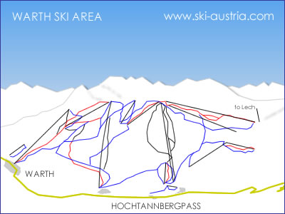 Warth Ski Map
