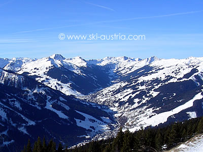 Skiing in the Glemm valley in Austria