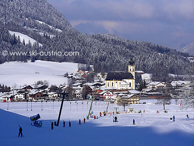 Skiing in Söll Austria