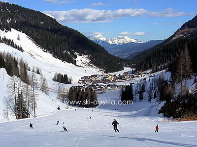 Ski run in Zauchensee Austria